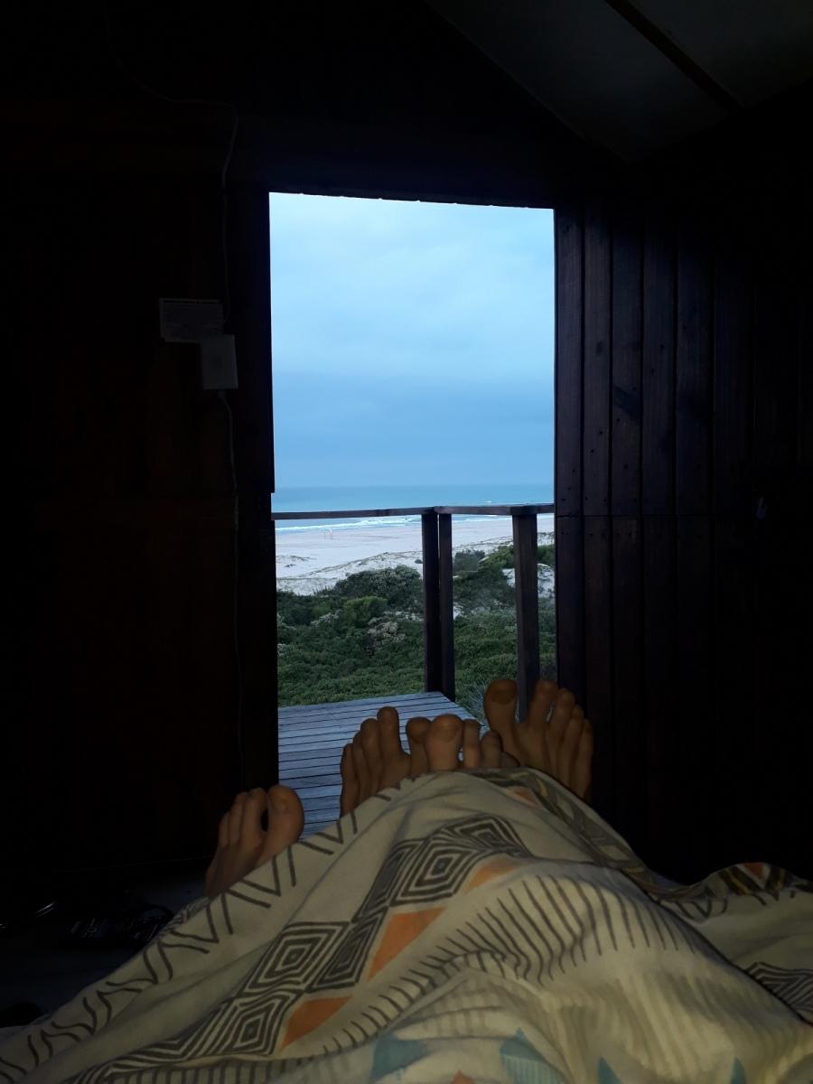 Ausblick von unserem Strandhäuschen