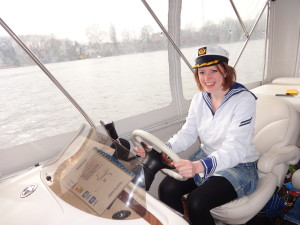 Captain at the helm