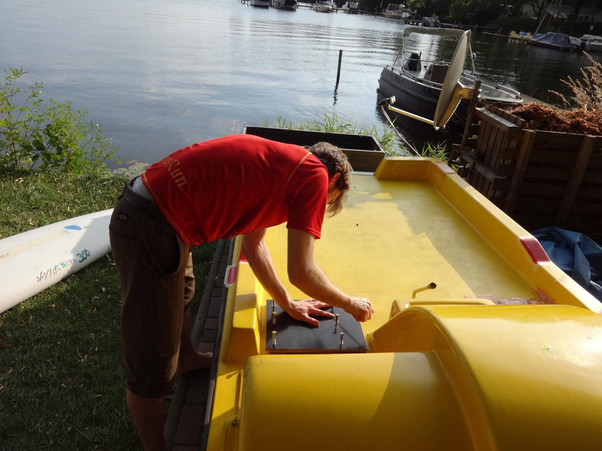 Boat repair fixing seating