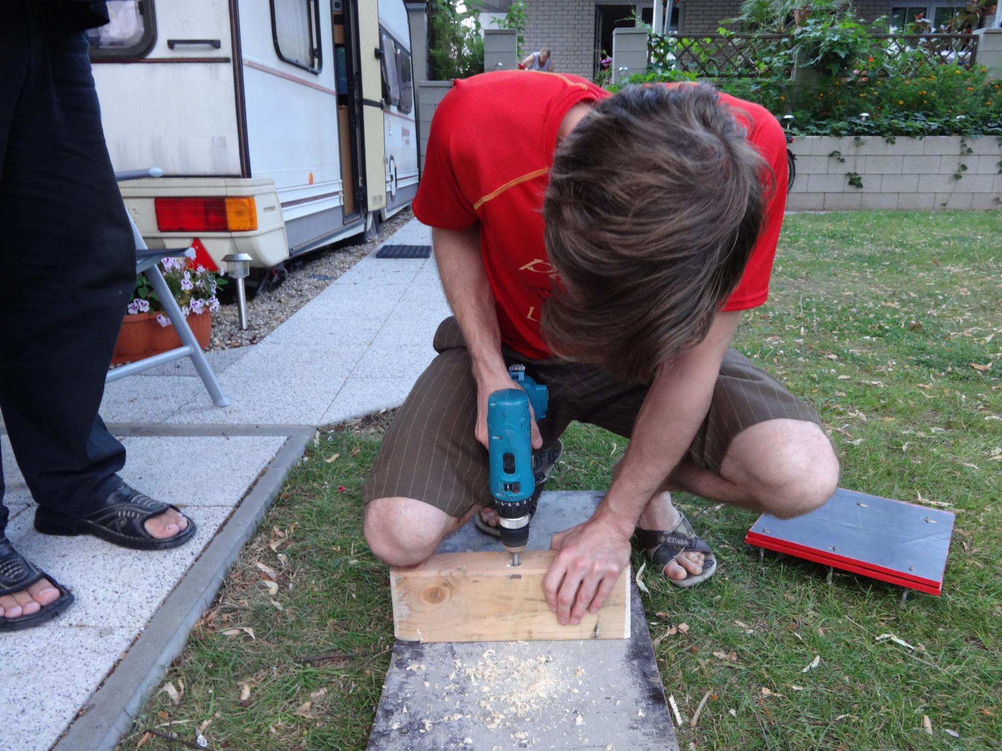 Matthes drilling diy boat repair