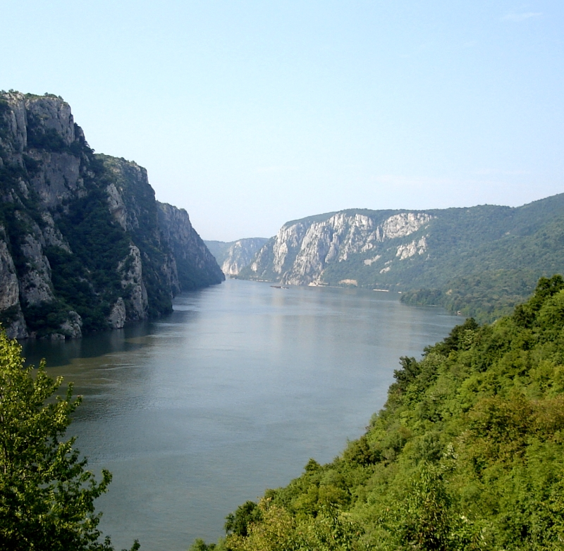 Iron Gate gorge River Danube