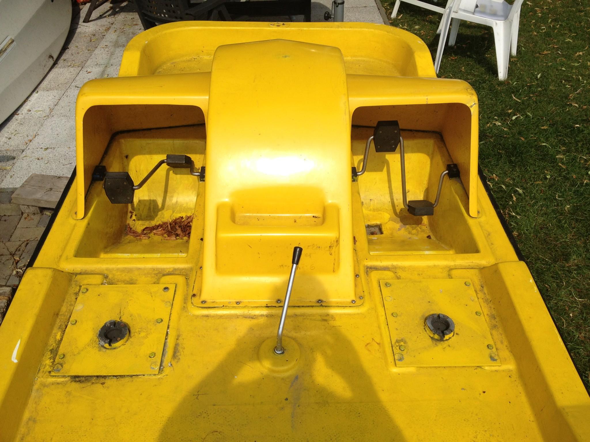 pedalo diy repair work boat