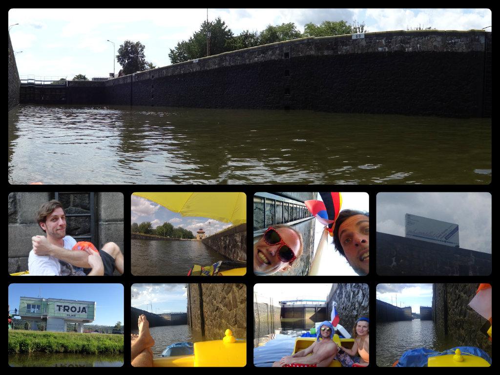 locks pedalo river vltava elbe