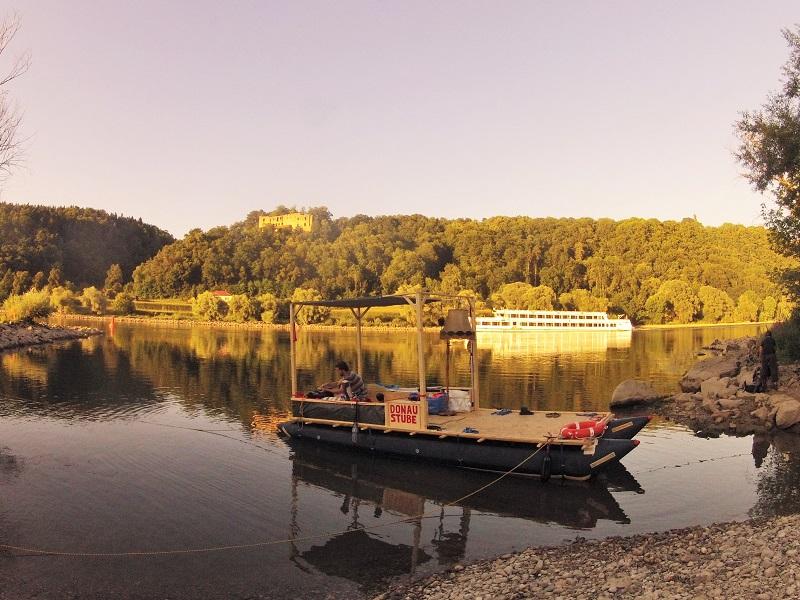 Abenteuer Floß Donau Stube wild campen