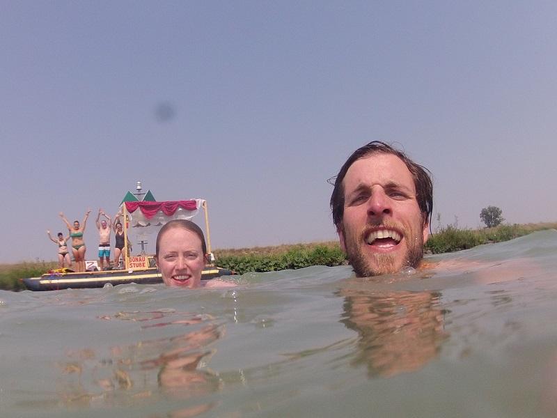 Schwimmen in der Donau