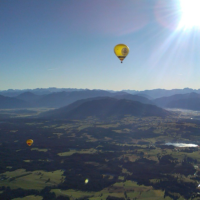 hot air balloon alps germany