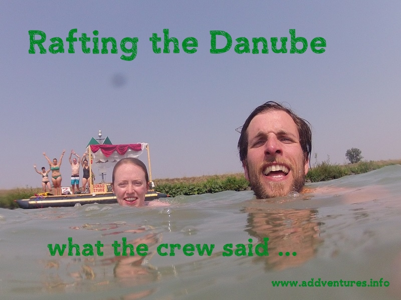 Floßtour auf der Donau - Rückblick der Crew
