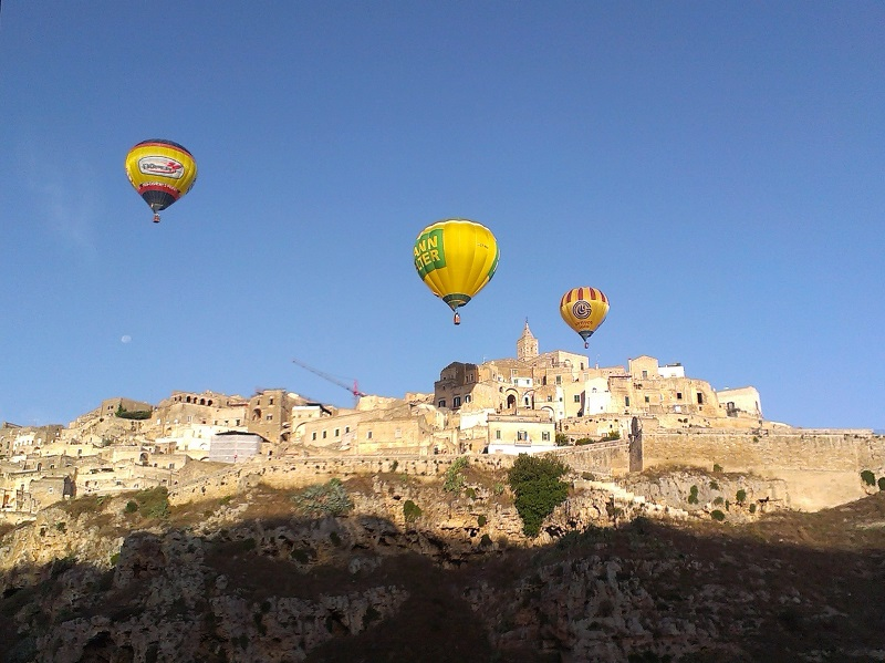 Hot air balloons in Matera