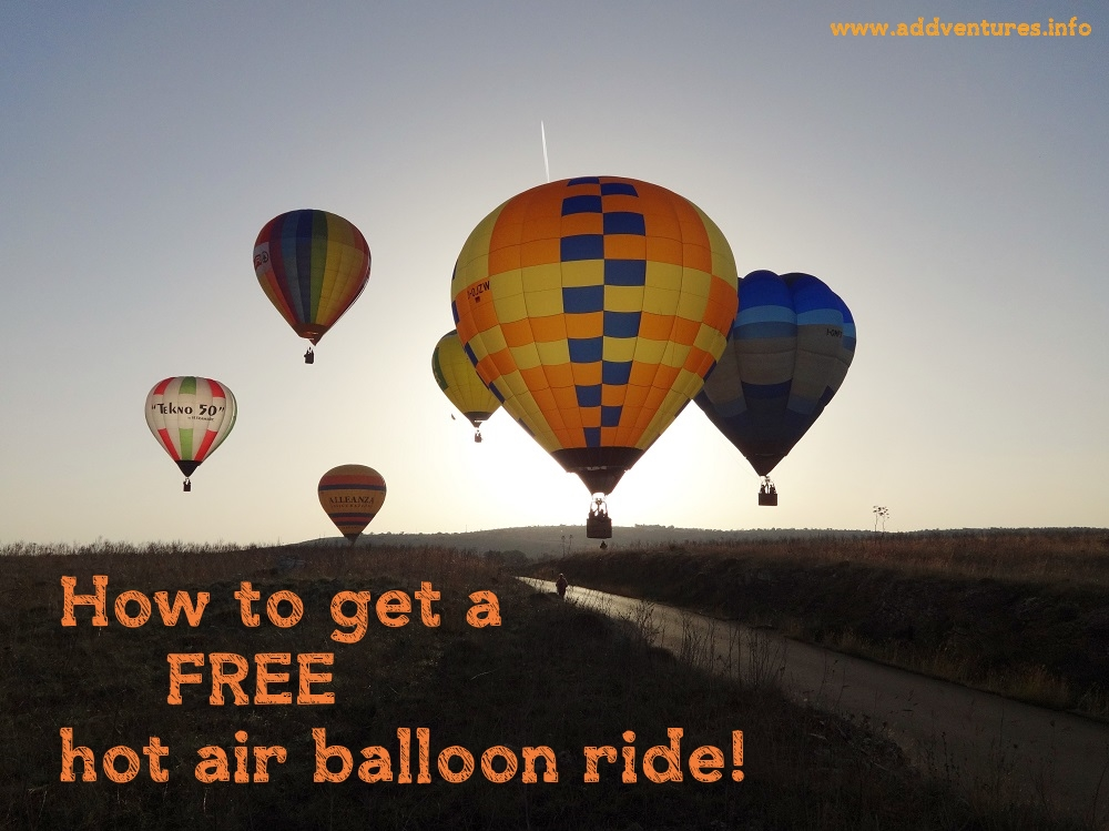 How to go hot air ballooning for free!