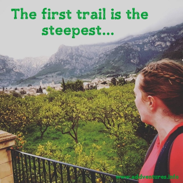 The first trail is the steepest - running from Valldemossa to Sóller