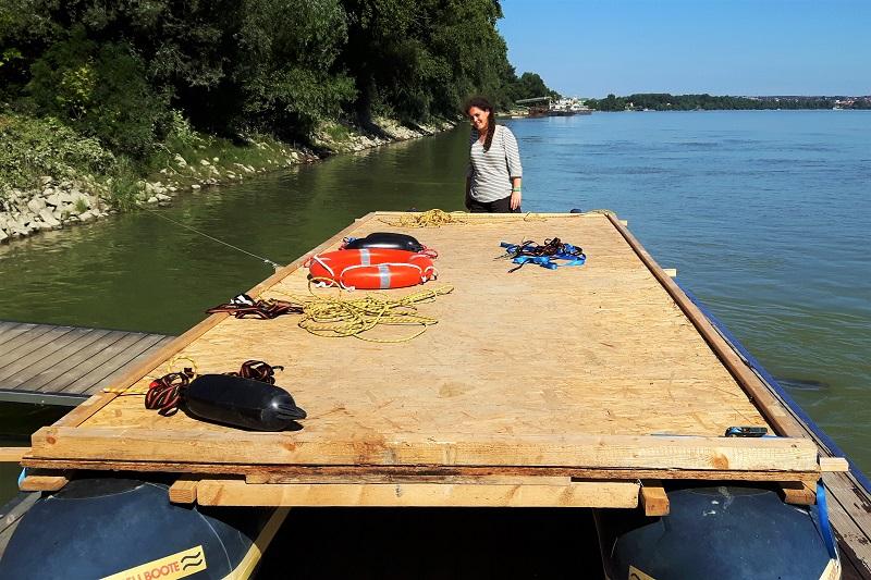raft platform diy danube paks hungary