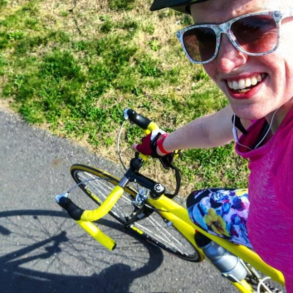 Triathlon training selfie Colonel Mustard
